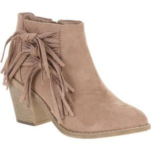 Faded Glory Fringe Suede Booties